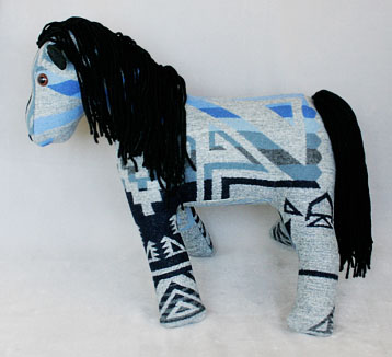 Navajo blanket pony, side view