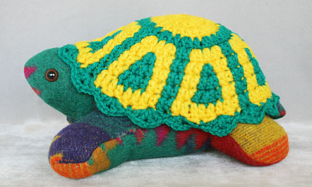 Yellow/green/multi Navajo blanket turtle