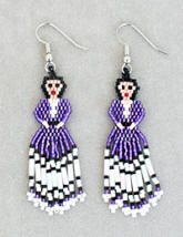 a3213 Lilac/multi hex bead doll earrings