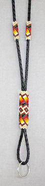a3472 Ecru/multi beaded lanyard