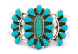 Example of Native American turquoise cluster jewelry