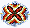 Example of Native American Overlay Stitched Beadwork